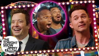 Magician Justin Willman Wows Jimmy and The Roots with a Darts Trick | The Tonight Show