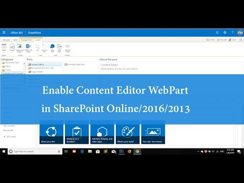 Enable Content Editor Webpart (CEWP) In SharePoint Online /2016/ 2013