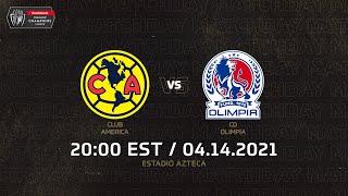 SCCL 2021   Club America vs CD Olimpia
