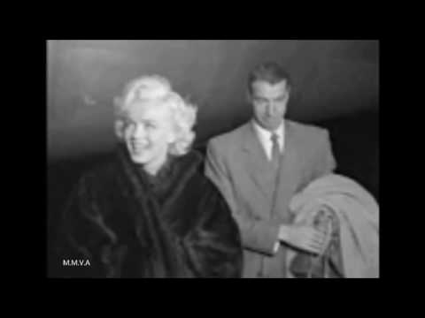 Marilyn Monroe Archive Footage - With Joe Dimaggio At Wedding And Airport 1954(Interview 1960)