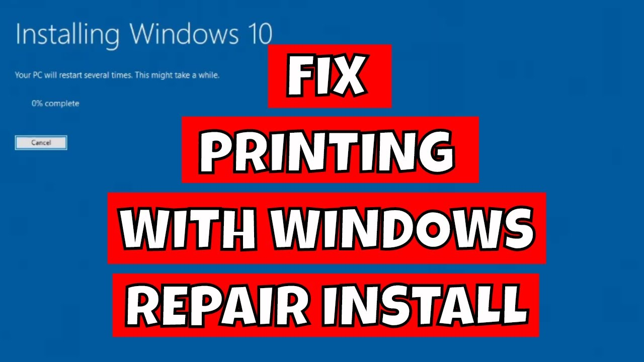 Fix No Printer Drivers Installed In Windows 10 With Windows Repair Install