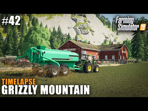 Grizzly Mountain Timelapse #42 Slurry Spreading Farming Simulator 19
