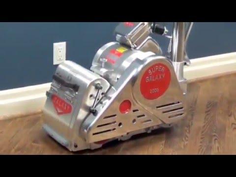 Galaxy Floor Sanding Machines Galaxy 2000 Youtube