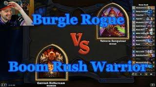 Boom Rush Warrior vs Burgle Rogue | Hearthstone