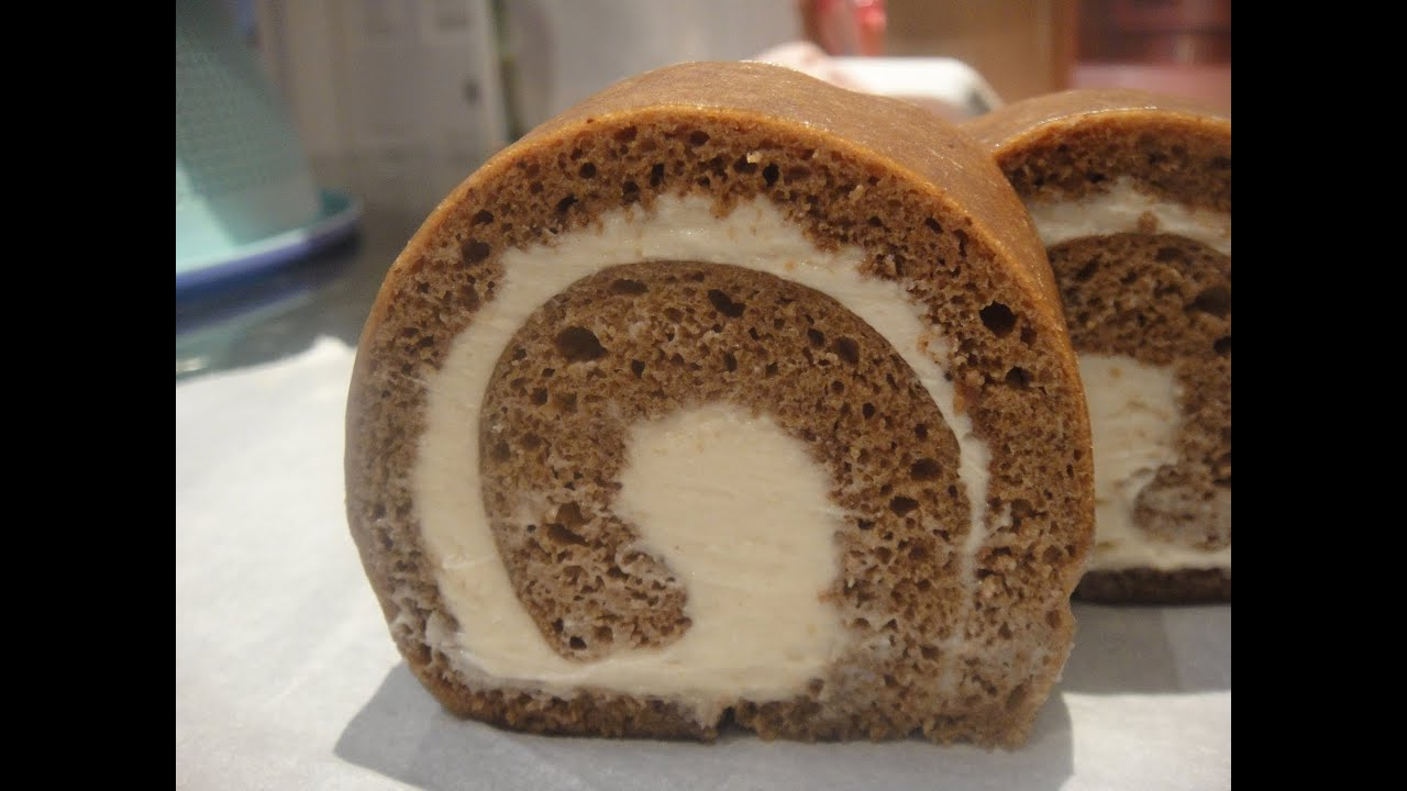 Mocha Swiss Roll Cake Recipe