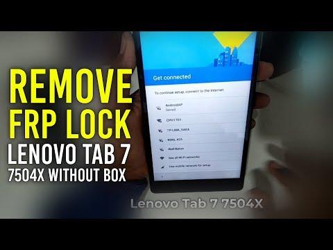 REMOVE FRP LOCK LENOVO TAB 7 7504X WITHOUT BOX