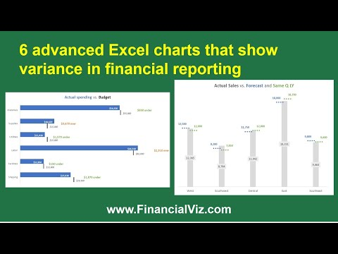6 advanced Excel charts that show variance in financial reporting