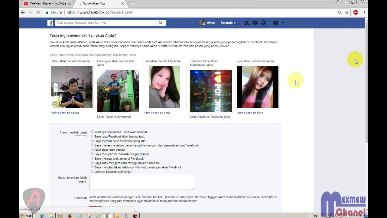 Cara Menonaktifkan Tutup Akun Facebook Untuk Sementara