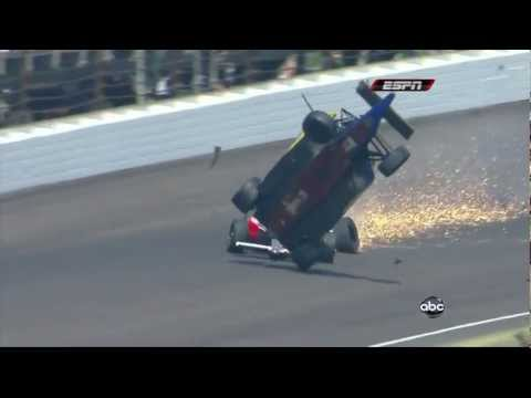 Horrible Crash Mike Conway 2010 Indianapolis 500 Milhas - Acidente Mike Conway Formula Indy