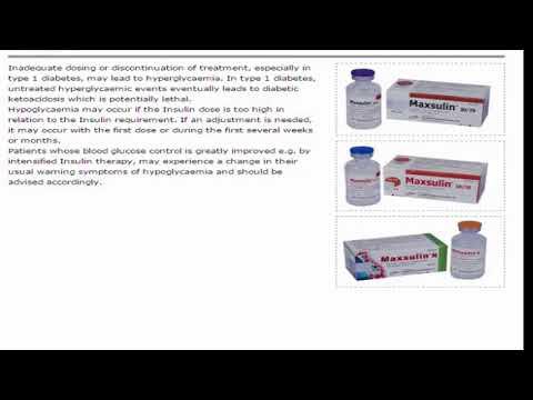 Maxsulin Anti Diabetic Insulin And Its Preparations