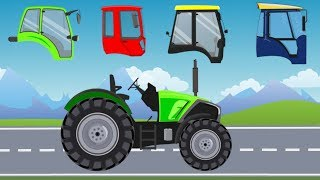 Street Vehicles with Wrong Head | Tractors and Agricultural machinery | What Cabin? Traktory Bajki