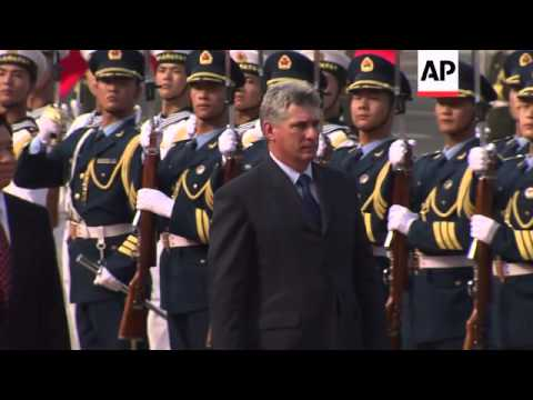 China's Vice President hosts his Cuban counterpart