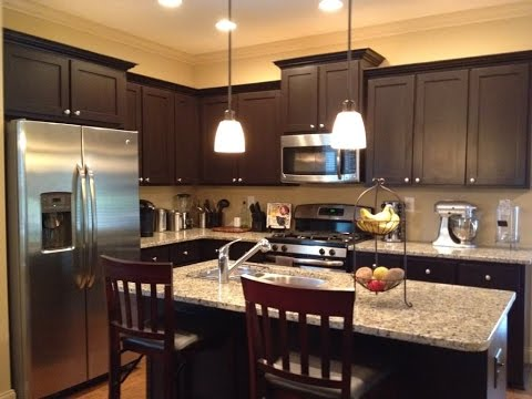 espresso cabinets with what color granite youtube. Black Bedroom Furniture Sets. Home Design Ideas