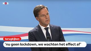 TERUGKIJKEN: Premier Rutte staat pers te woord na de ministerraad