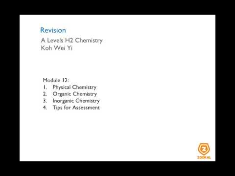 Chemistry Revision Physical, Inorganic and Organic - GCE A Levels O Levels Singapore