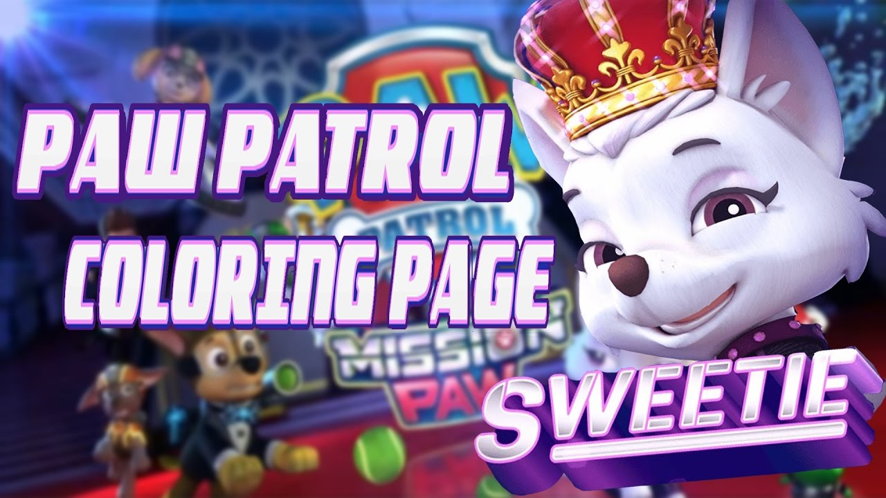 Paw Patrol Mission Paw Sweetie Coloring Page For Kids Hd New