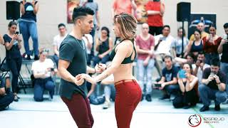 jesse Joy corre bachata Sensual con Pablo y Raquel / workshop en stuttgart bachata festival 2018 thumbnail
