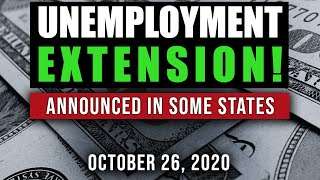 UNEMPLOYMENT EXTENSION! ENHANCED BENEFITS & LWA $300 UPDATE 10/26/20 (SOME STATES GETTING MORE)