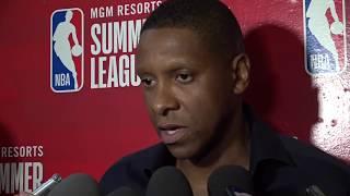 RAPTORS VS KNICKS | 2019 NBA SUMMER LEAGUE INTERVIEW | MASAI UJIRI | NBA SOUND | 07.09.2019