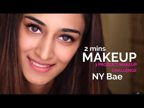 3 product full face makeup challenge | Erica Fernandes | NY Bae |