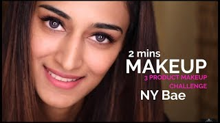3 product full face makeup challenge   Erica Fernandes   NY Bae  