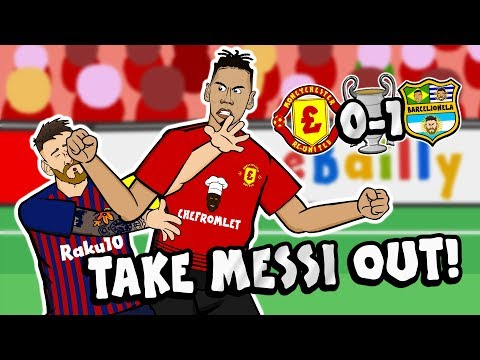 💥TAKE MESSI OUT💥 By Chris Smalling (Man Utd vs Barcelona Champions League Parody Goal Highlights)