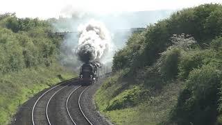 35028 Clanline on the Bristol and Bath Pullman
