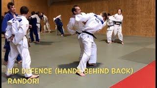 4 JUDO games  1.Hip defence 2.Sausage roll 3.Leg tag 4.Turnover tag