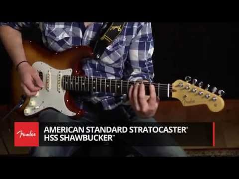 American Standard Fender Stratocaster HSS Shawbucker Demo