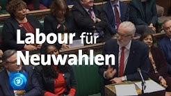 Großbritannien: Labour will für Neuwahlen stimmen
