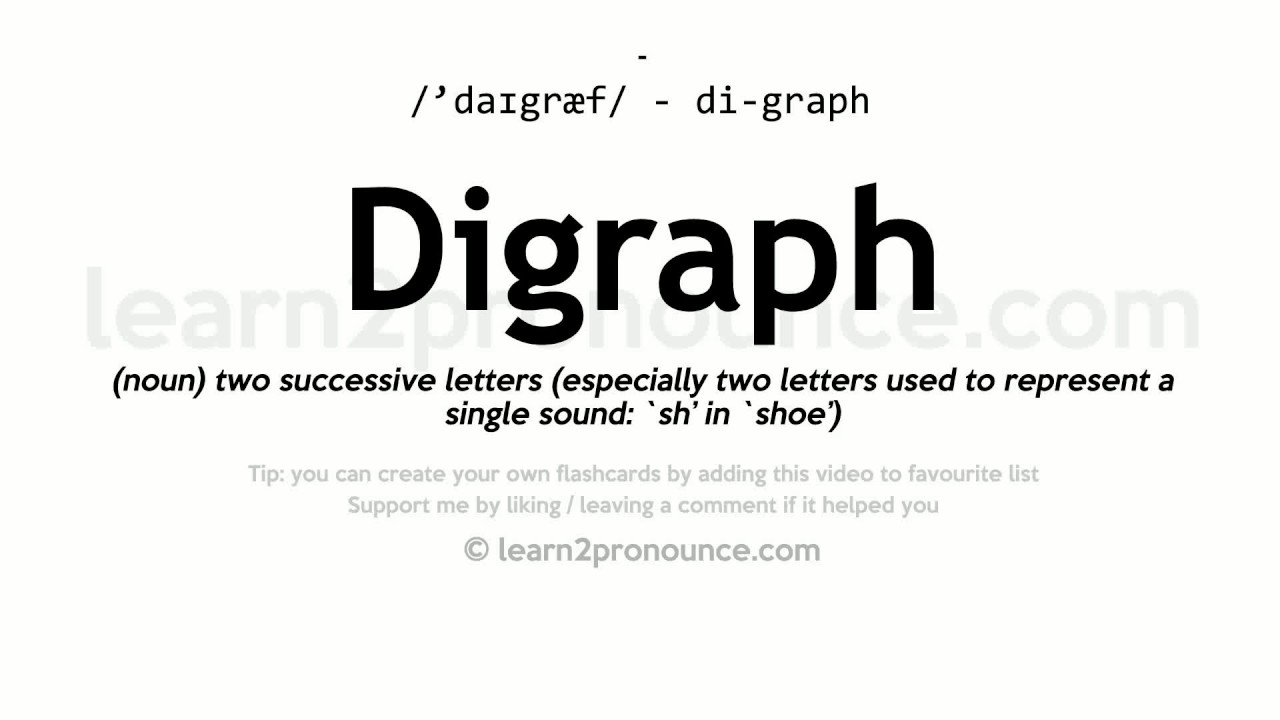 Digraph Pronunciation And Definition