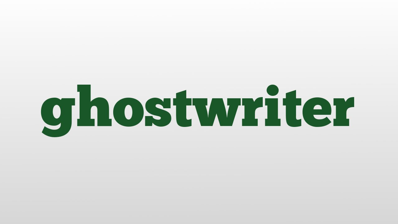 Ghost writer meaning