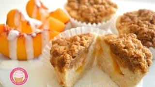 Peach Buttermilk Coffeecake Cupcakes (vegan, Gf) Recipe Tutorial!!!!