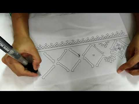 kutch work hand embroidery boarder design for saree and kurtis