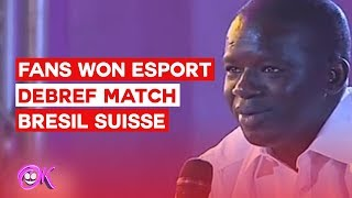 Fan gagne le tournoi esport - debrief match bresil vs suisse