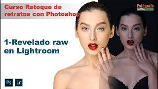 Revelado raw para retrato - Curso Retoque de Retratos con Photoshop - 1