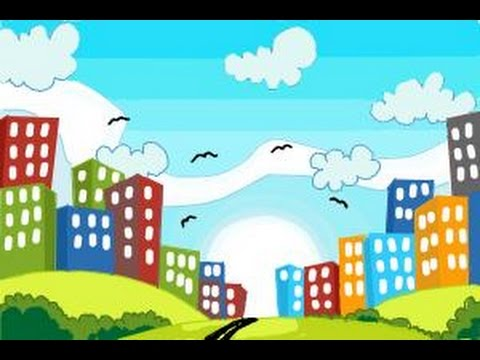 How To Draw Buildings For Kids