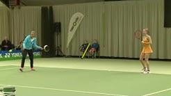 Kerber spielt Tennis mit einer Bratpfanne