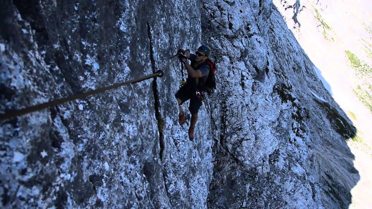 Klettersteig Garmisch : Mauerläufer klettersteig youtube