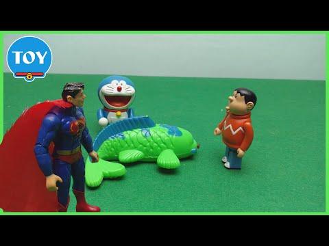 Cá chép thần biến Nobita thành siêu nhân Superman - hoạt hình doremon chế đồ chơi trẻ em tập 31