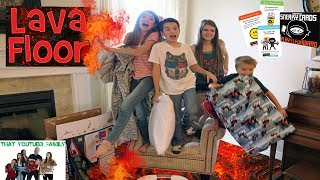 The Floor Is Lava - LAVA MONSTER - SECRET NINJA MISSION  / That YouTub3 Family | Family Channel