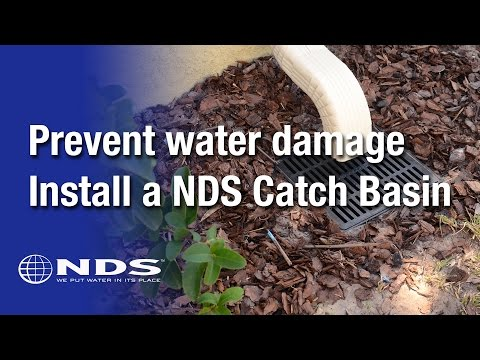 How do I install an NDS catch basin for my drainage system?