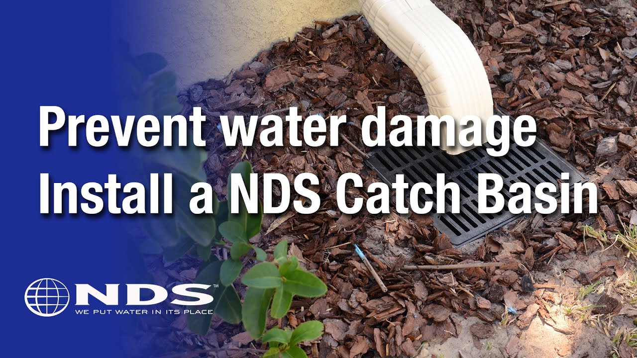 How do I install an NDS catch basin for my drainage system
