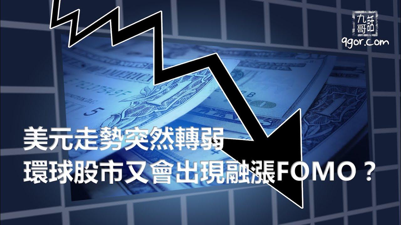 210425 九哥周報:美元走勢突然轉弱,環球股市又會出現融漲FOMO?