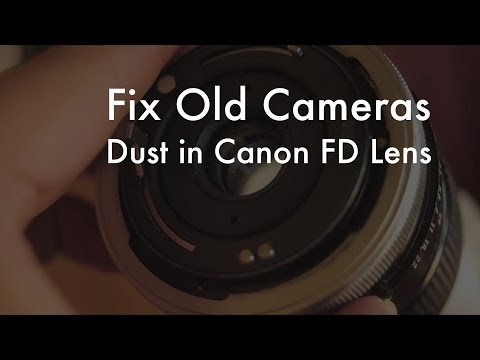 Fix Old Cameras: Dust In Canon FD Macro Lens