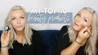 My Top 10 Must Haves | Beauty & Makeup products I couldn
