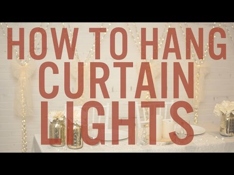 how to set up hang curtain lights