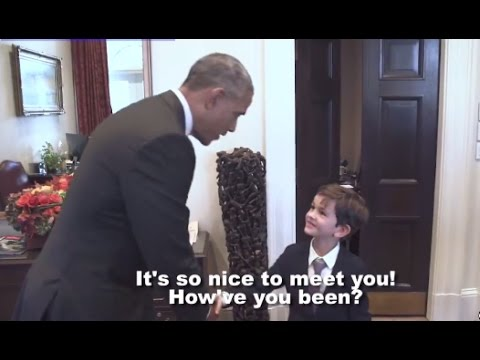 Obama Meets Boy Who Wrote to Syrian Refugee