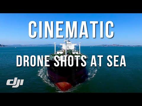 DRONE over MASSIVE CHEVRON OIL TANKER in SF BAY / DJI Phantom