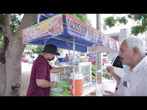 Llegan a Mazatlán tacos dorados de camarón estilo Escuinapa
